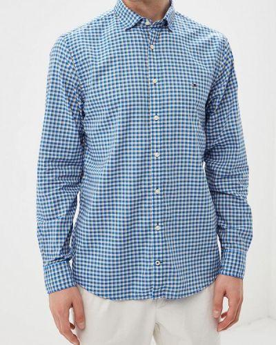 Синяя рубашка с длинным рукавом Tommy Hilfiger