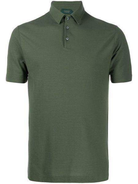 Koszula krótkie z krótkim rękawem klasyczna wojskowy Zanone