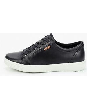Черные кожаные кроссовки Ecco