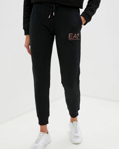 Спортивные черные спортивные брюки Ea7