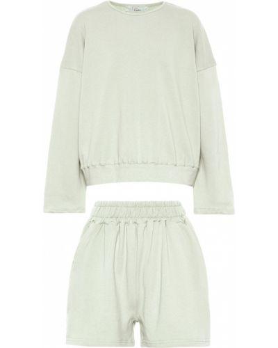 Ватные зеленые хлопковые шорты Frankie Shop