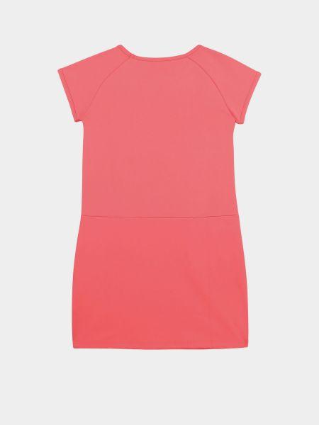 Розовое платье с вырезом из вискозы Karl Lagerfeld