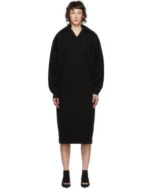 Платье макси с вышивкой через плечо Balenciaga