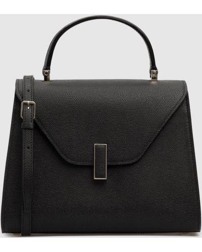 Кожаная черная кожаная сумка Valextra