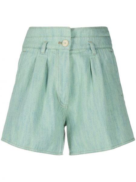 Зеленые хлопковые шорты с карманами Forte Forte