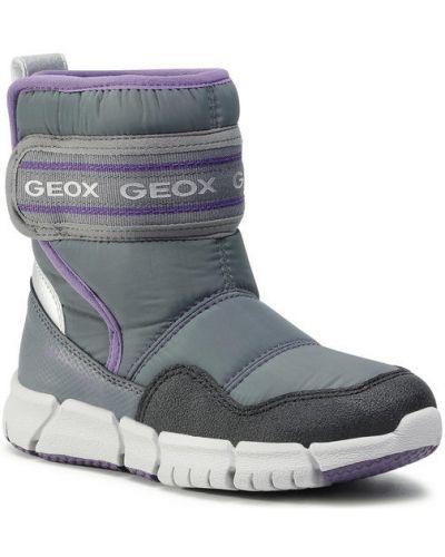 Szare śniegowce Geox