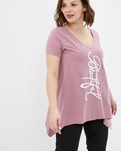 Розовая футболка с короткими рукавами Le Monique