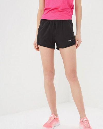 Спортивные шорты черные Li-ning