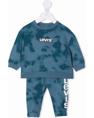 Niebieski dres z printem Levis Kids