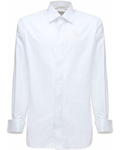 Хлопковая рубашка - белая Brioni