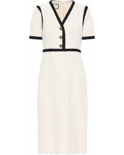 Платье миди из вискозы твидовое Gucci