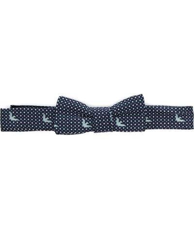 Шелковый синий галстук-бабочка с бабочкой Emporio Armani Kids