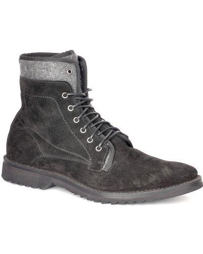 Черные туфли замшевые Fabi