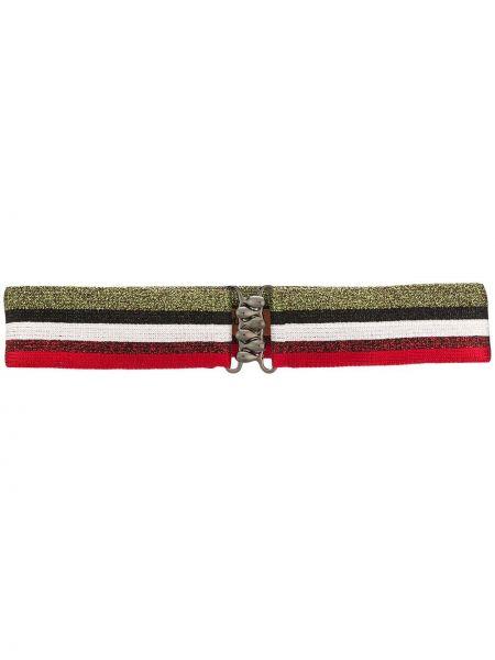 Красный ремень металлический эластичный Missoni