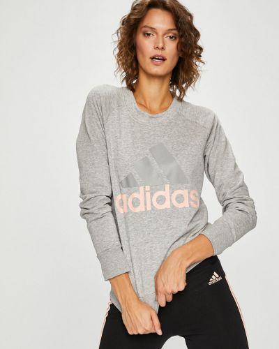 Серая кофта с капюшоном Adidas Performance