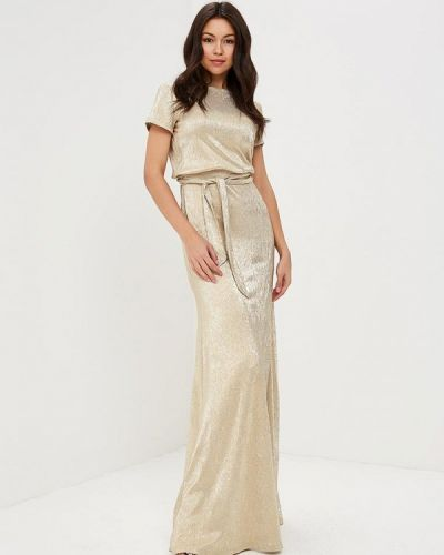 Платье весеннее золотой Mirasezar