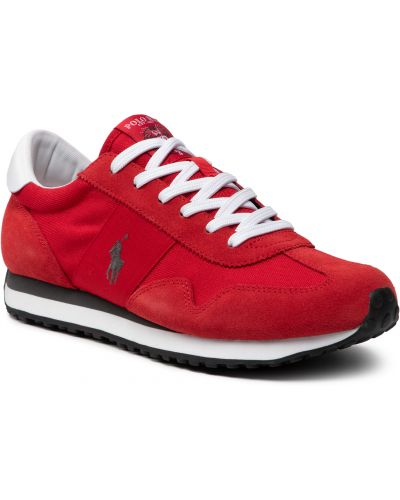 Buty sportowe skorzane - czerwone Polo Ralph Lauren