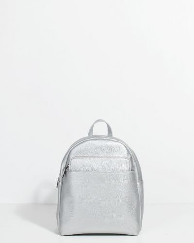 Кожаный рюкзак серебряный Parfois