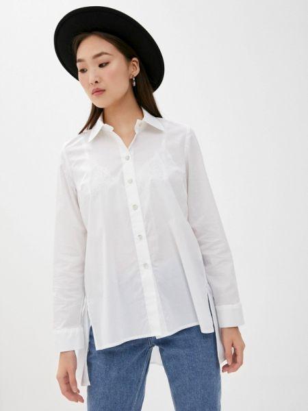 Белая блузка с длинным рукавом Blugirl Folies