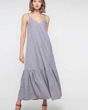 Платье серое платье-сарафан Лимонти