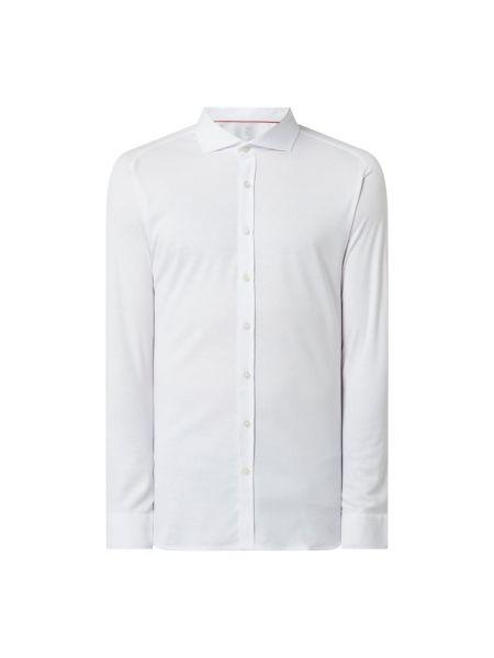 Biała koszula bawełniana z raglanowymi rękawami Desoto