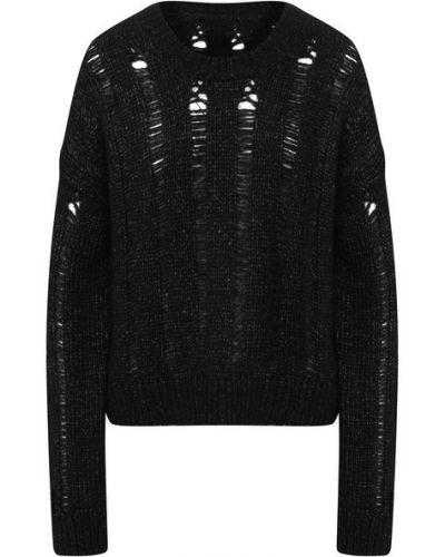 Черный шерстяной свитер Uma Wang