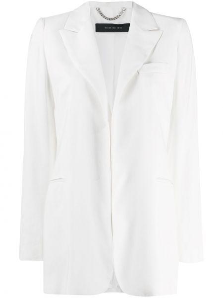 Белый пиджак с карманами на пуговицах Federica Tosi