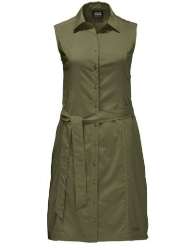 Платье с карманами - зеленое Jack Wolfskin