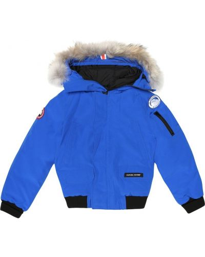 Niebieska kurtka bawełniana Canada Goose Kids