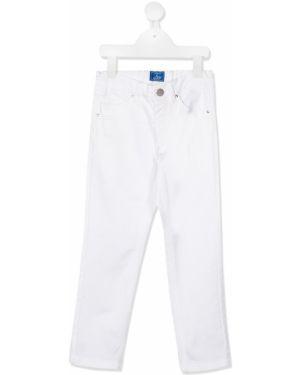 Брюки белые кожаные Fay Kids