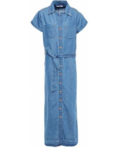 Джинсовое платье миди - синее 7 For All Mankind