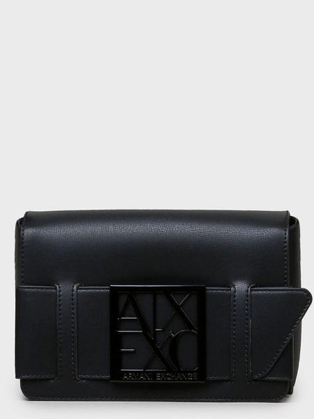 Кожаная сумка - черная Armani Exchange