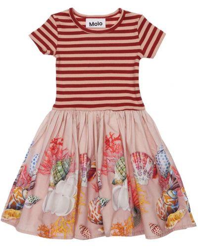 Хлопковое платье в рубчик эластичное Molo