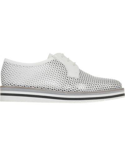 Кожаные туфли - белые Pertini