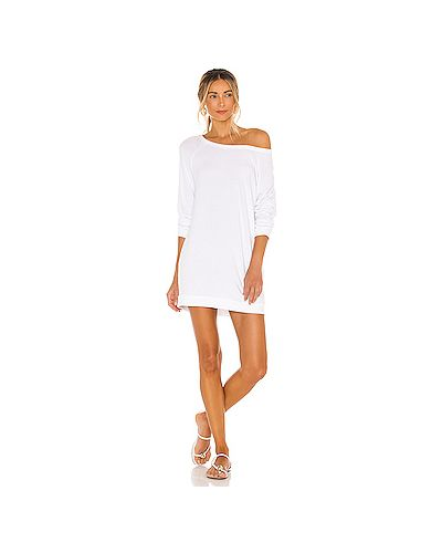 Хлопковое белое платье Michael Lauren
