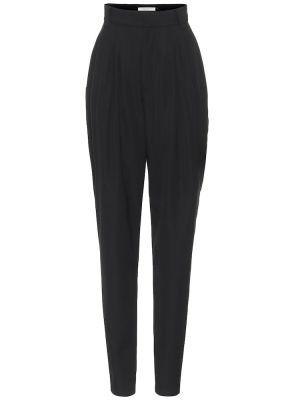 Шерстяные черные брюки Alessandra Rich