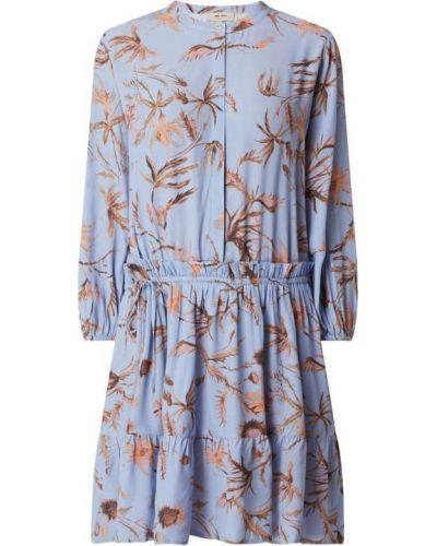 Sukienka rozkloszowana z falbanami - niebieska Mos Mosh