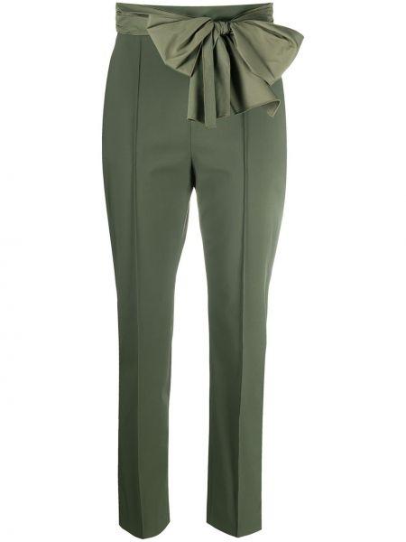 Зеленые брючные укороченные брюки Elisabetta Franchi