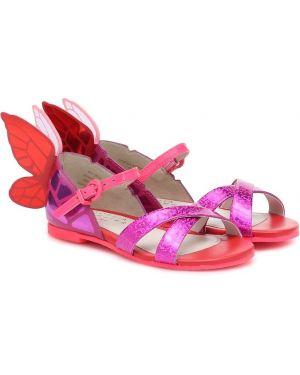 Skórzany sandały różowy żółty Sophia Webster Mini