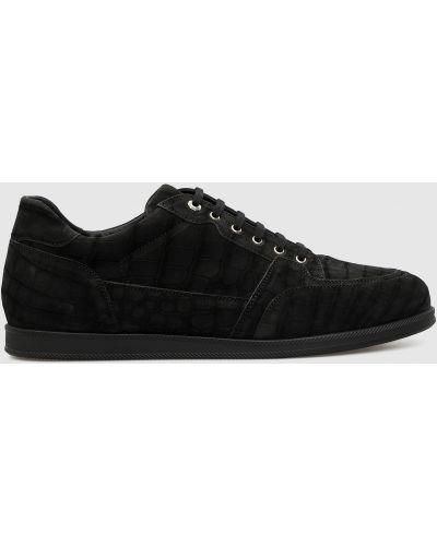 Кожаные кроссовки - черные Stefano Ricci