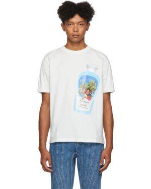 Хлопковая с рукавами белая рубашка с короткими рукавами с воротником Botter