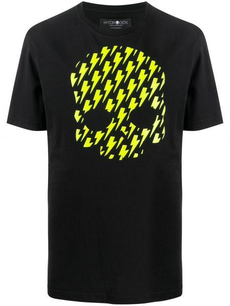 Koszula krótkie z krótkim rękawem prosto z nadrukiem Hydrogen