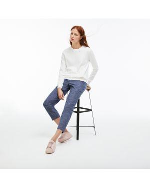 Укороченные брюки синие Lacoste