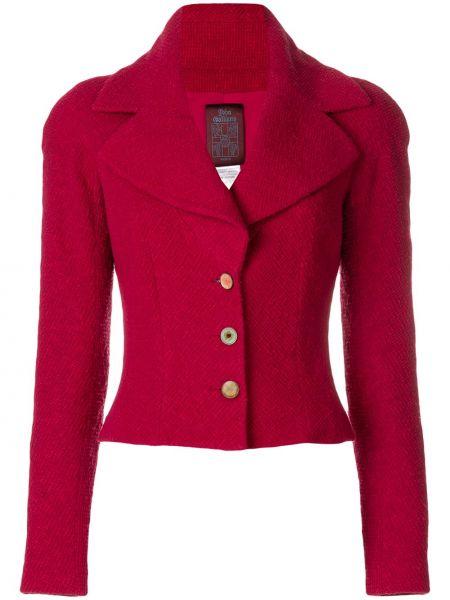 Прямой приталенный удлиненный пиджак на пуговицах John Galliano Pre-owned