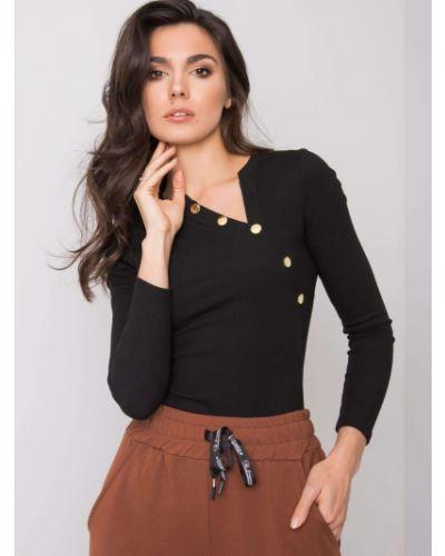Bluzka asymetryczna - czarna Fashionhunters