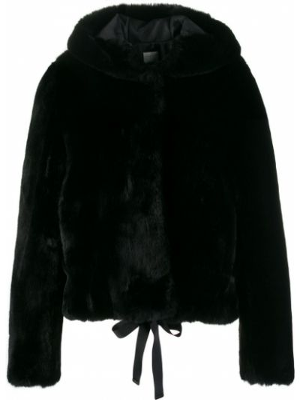 Czarna kurtka z długimi rękawami Sandro Paris