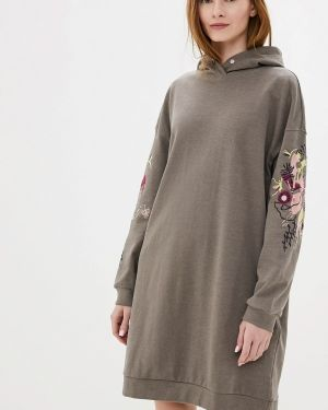 Платье серое платье-толстовка Sela