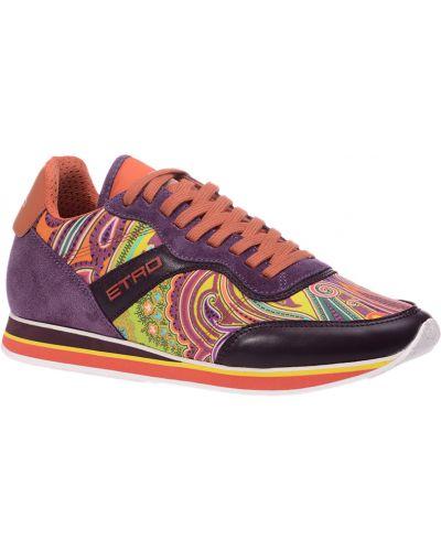 Фиолетовые замшевые кроссовки Etro