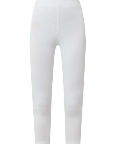 Białe legginsy bawełniane Esprit