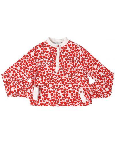Рубашка с принтом с карманами Stella Mccartney Kids